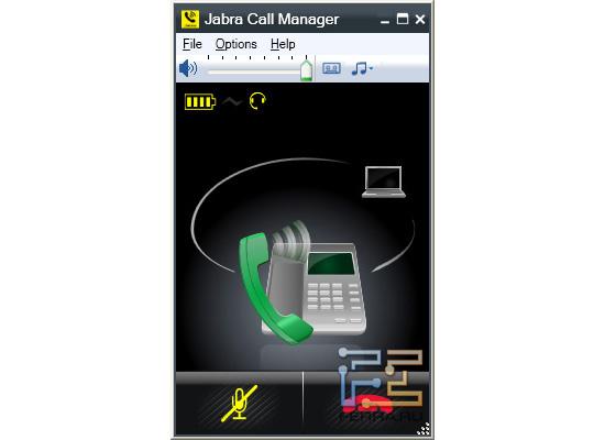 Звонок на городской телефон в Jabra Call Manager