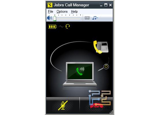 Удержание звонка городского телефона и принятие вызова программного в Jabra Call Manager