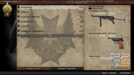 Количество классов на каждую команду в сетевом режиме Red Orchestra 2: Heroes of Stalingrad строго ограничено - таким образом сохраняется баланс