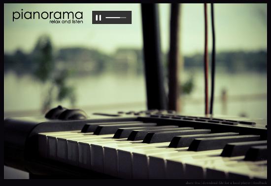 Сайт дня: Pianorama - Просто радио. Просто музыка. Фортепиано.