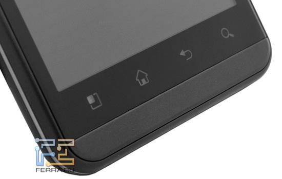 Сенсорные клавиши под экраном LG Optimus 3D