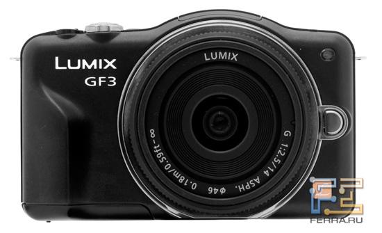 Panasonic Lumix GF3, вид спереди
