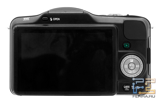 Тыльная сторона корпуса Panasonic Lumix GF3