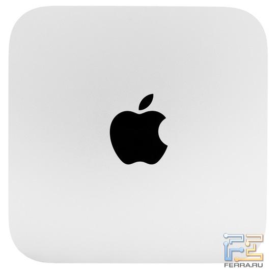 Apple Mac mini. Вид сверху