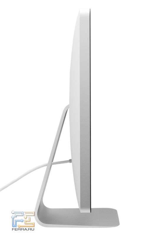 Apple Thunderbolt Display. Вид слева
