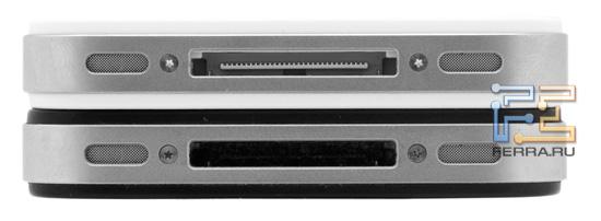 iPhone 4S (белый) и iPhone 4 – нижняя грань