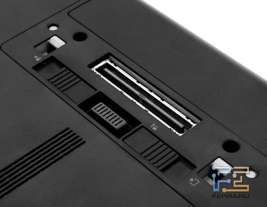 Разъемы для порт-репликатора и второго аккумулятора HP ProBook 6360b