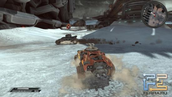Чтобы автомобиль бандитов взлетел на воздух, достаточно лишь пары ракет. Транспортное средство героя Rage куда крепче - тут и десятком ракет не обойтись