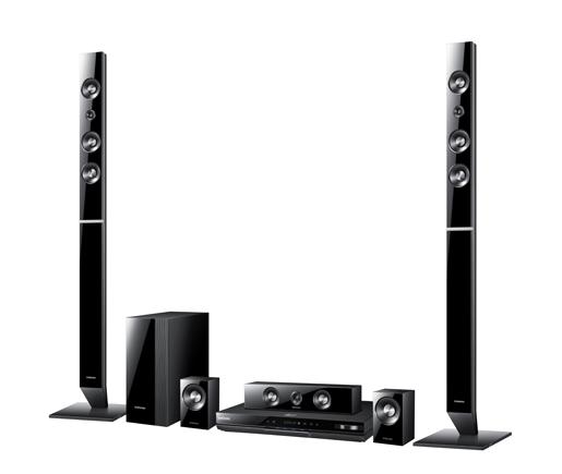 Домашние кинотеатры Samsung HT-D5530K и HT-D5550K с 3D Blu-ray проигрывателем и 5.1 акустикой