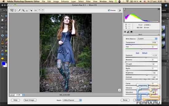 Adobe Camera RAW в Photoshop Elements 10