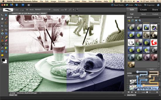 Фильтры в Adobe Photoshop Elements 10
