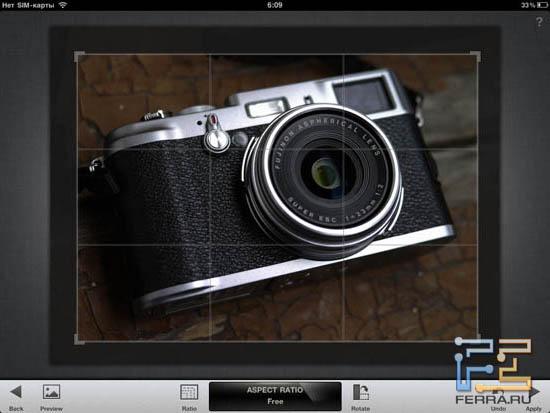 Использование инструмента Crop в Snapseed 1.3