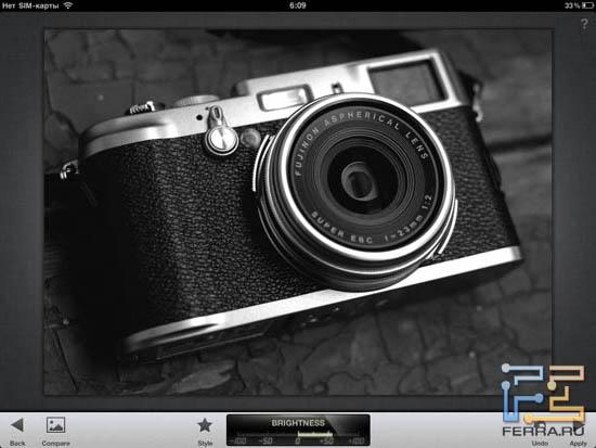 Черно-белый фильтр в Snapseed 1.3