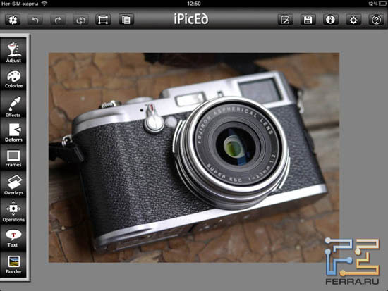 ��������� iPicED Lite 2.0.5 �� iPad