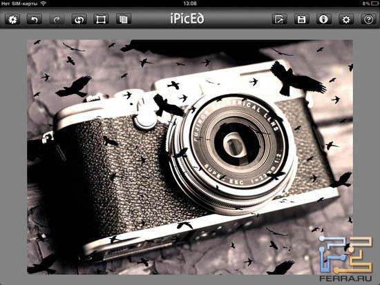 И более интересный пример работы фильтра Overlays в iPicED Lite 2.0.5