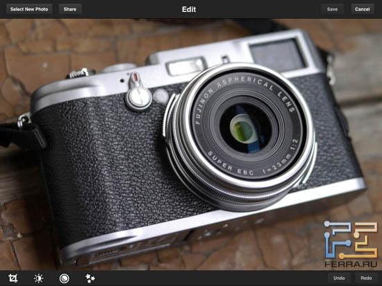 Открываем фотографию и приступаем к обработке в Adobe Photoshop Express 2.0.3