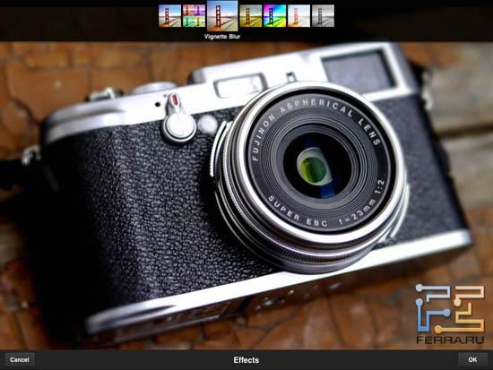 Пример использования фильтра из раздела Effects в Adobe Photoshop Express 2.0.3