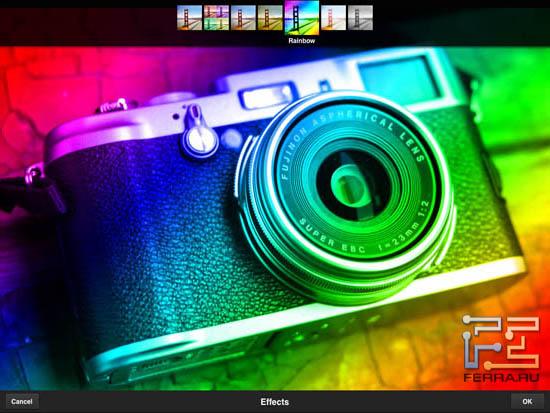 Еще один пример фильтра из раздела Effects в Adobe Photoshop Express 2.0.3