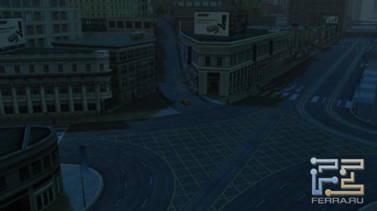 А вот так Driver: San Francisco выглядел бы без пешеходов, других автомобилей и освещения - совсем уж тоскливо и уныло