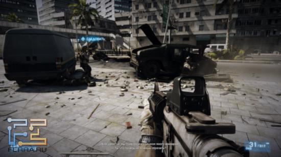 Один из эпизодов Battlefield 3, заставляющий вспомнить едва ли не десяток игр и фильмов, в которых нам приходилось наблюдать такую картину