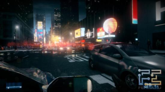 Ночной Нью-Йорк в Battlefield 3 близок к реальному - кругом одни огни