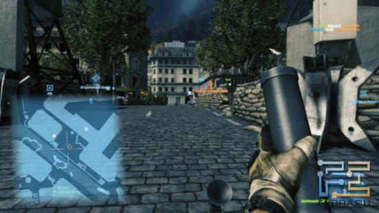 Battlefield 3 - Парижские улочки на карте