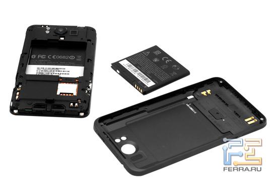 Задняя крышка и аккумулятор HTC Titan