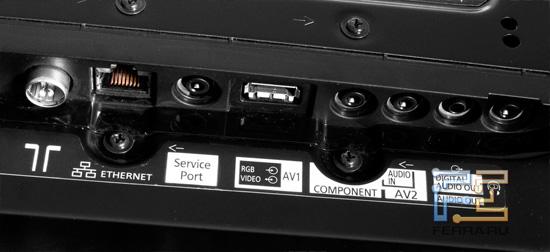 Разъёмы для подключения адаптеров Panasonic VIERA TX-PR50VT30