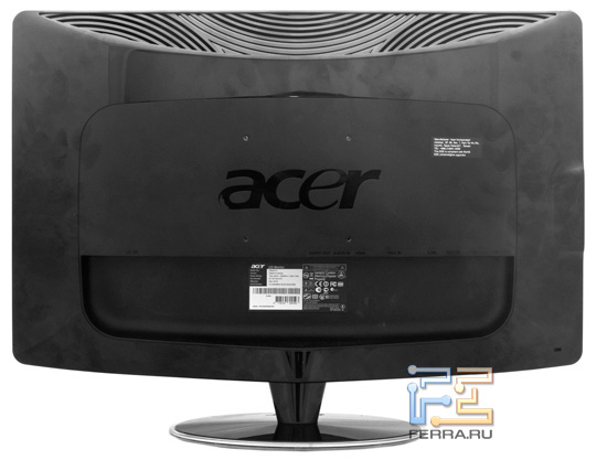 Acer DX241H, вид сзади