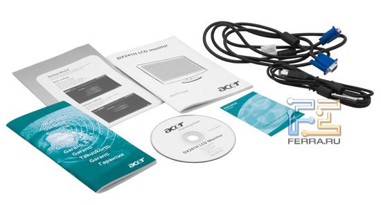 Комплект поставки Acer DX241H