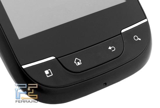 Клавиши под экраном LG Optimus Link
