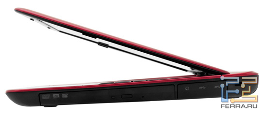 Dell Inspiron N411Z. Вид сбоку