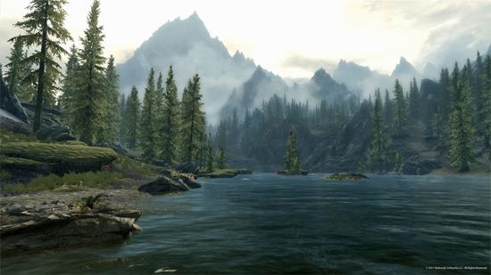 Красивы пейзажи в The Elder Scrolls V: Skyrim. Аж за душу берут