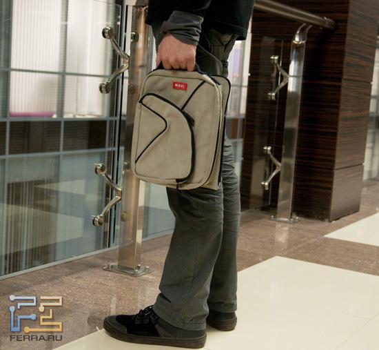 Банальный способ ношения сумки MixBag