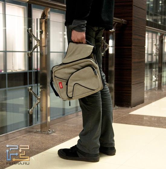 Еще один банальный способ ношения сумки MixBag