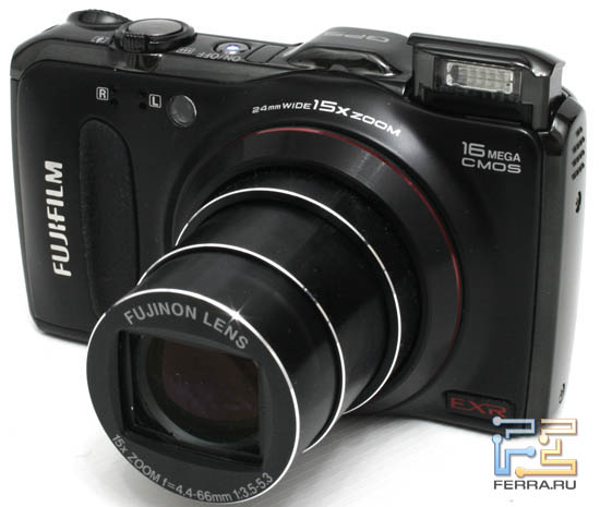 Общий вид Fujifilm FinePix F550EXR. Объектив в теле положении