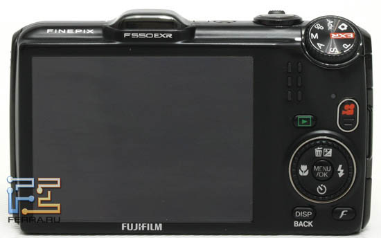 Fujifilm FinePix F550EXR, вид сзади