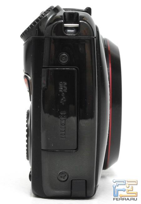 Fujifilm FinePix F550EXR, вид справа