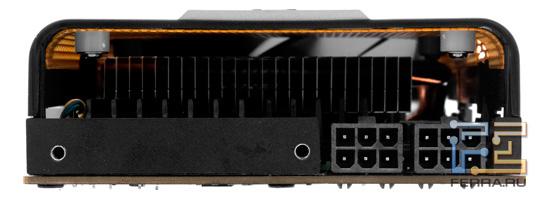 Разъемы дополнительного питания видеокарты ZOTAC GTX 560 Ti 448 Cores