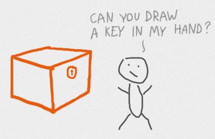Нарисованный человечек зовёт рисовать