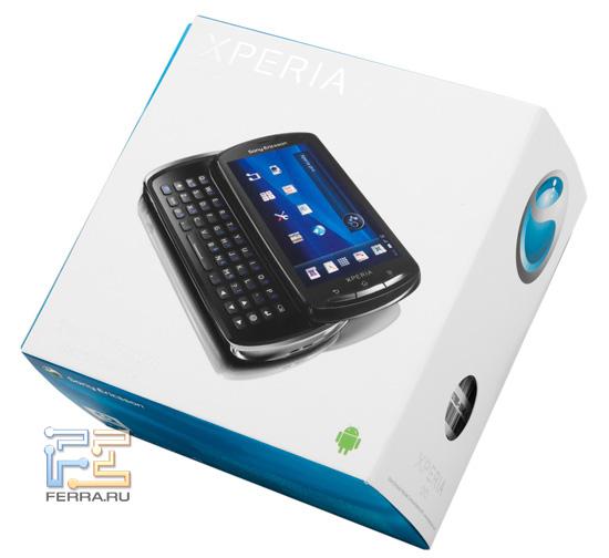 Коробка с Sony Ericsson Xperia pro