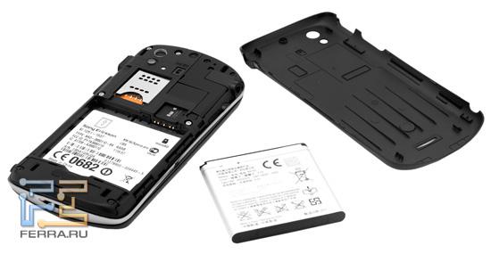 Аккумулятор и задняя крышка Sony Ericsson Xperia pro