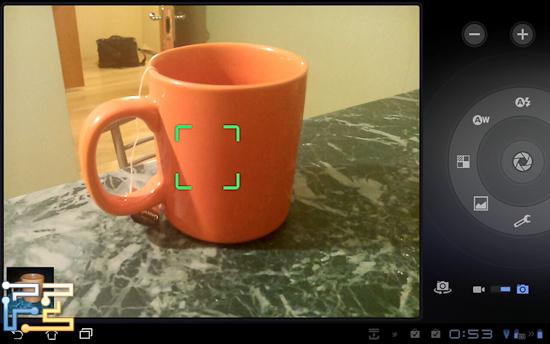 Окно камеры. Опять же, ничего особого, обычная камера на Android 3