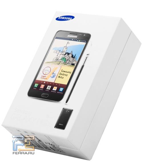 Коробка с Samsung Galaxy Note