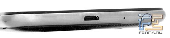 Нижний торец корпуса Samsung Galaxy Note