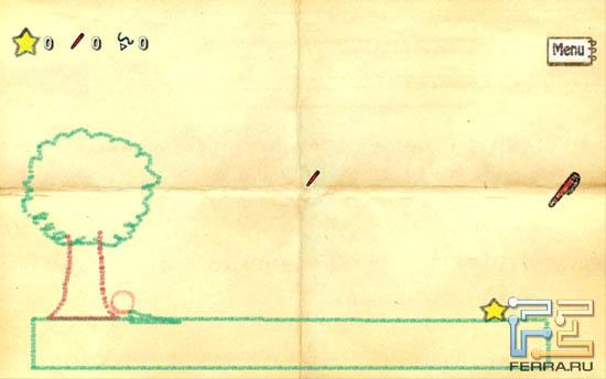 Игра Crayon Physics на Samsung Galaxy Note