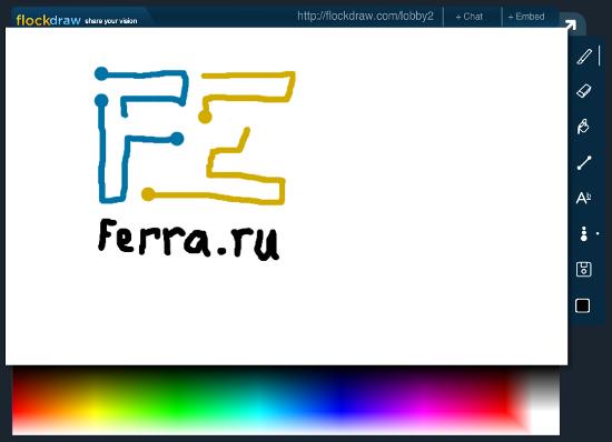 Пример рисунка на сайте Flockdraw
