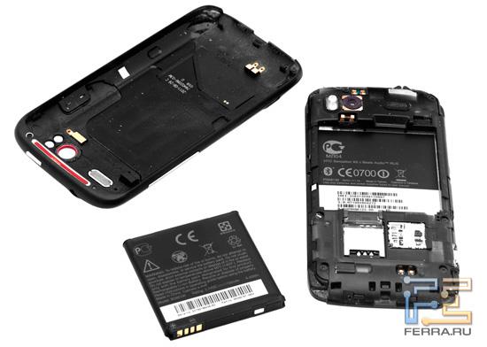 Задняя крышка и аккумулятор HTC Sensation XE