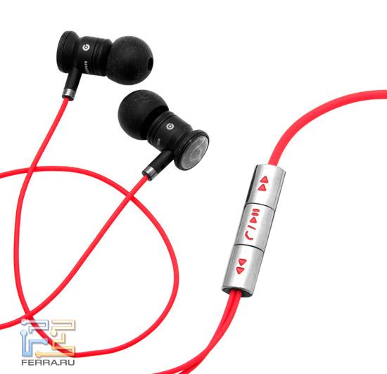 Наушники Beats Audio и трехкнопочный пульт для ответа на звонки и переключения треков