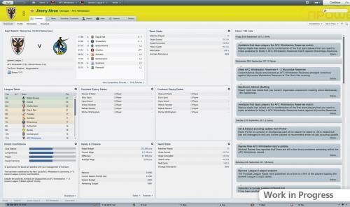 Главный экран Football Manager 2012